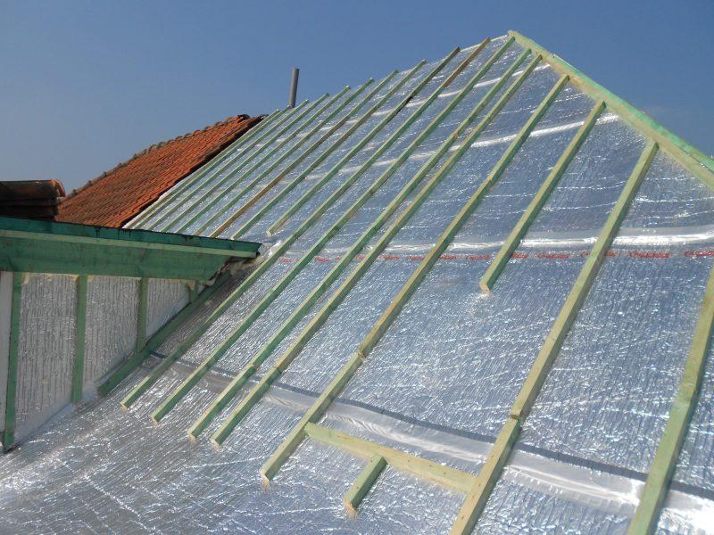Aluthermo Quattro comme sous toiture, isolation et pare vapeur (25)