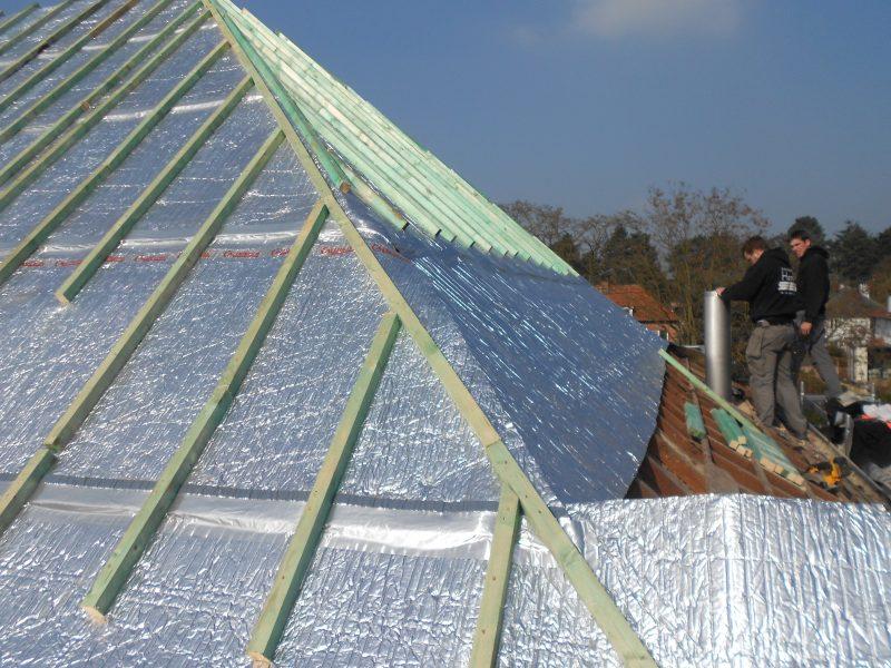 Aluthermo Quattro comme sous toiture, isolation et pare vapeur (32)