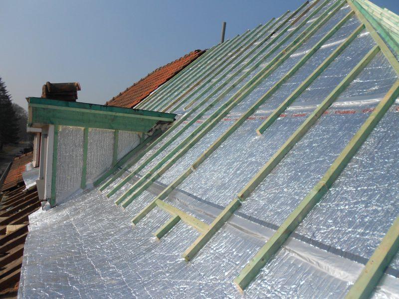 Aluthermo Quattro comme sous toiture, isolation et pare vapeur (35)