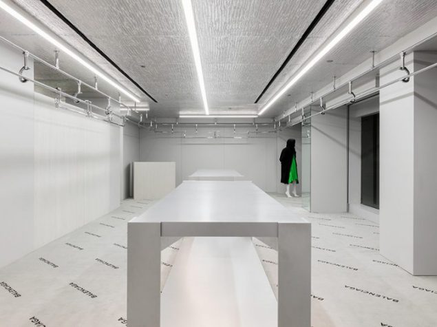 Aluthermo as stylish ceiling design in new york paris for Balenciaga new york store