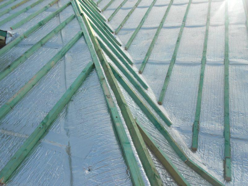 Aluthermo Quattro comme sous toiture, isolation et pare vapeur (13)