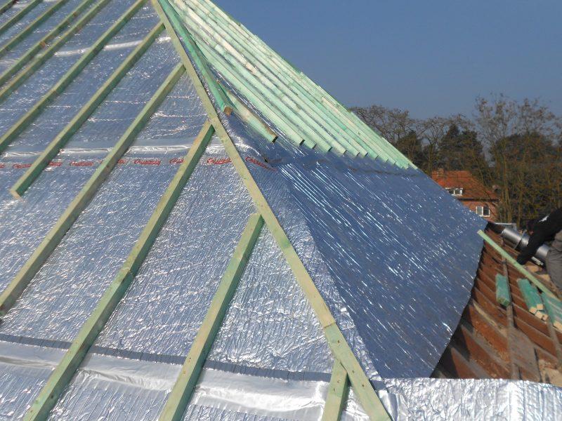 Aluthermo Quattro comme sous toiture, isolation et pare vapeur (30)