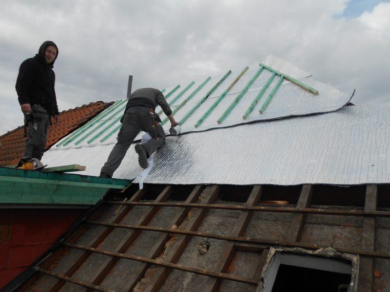 Aluthermo Quattro comme sous toiture, isolation et pare vapeur (4)