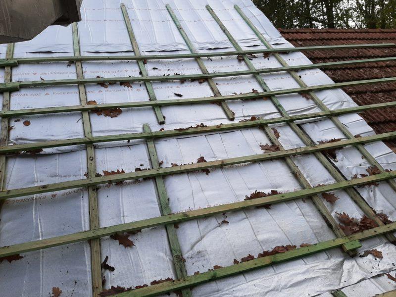 Isolant souple pour la rénovation d'une toiture