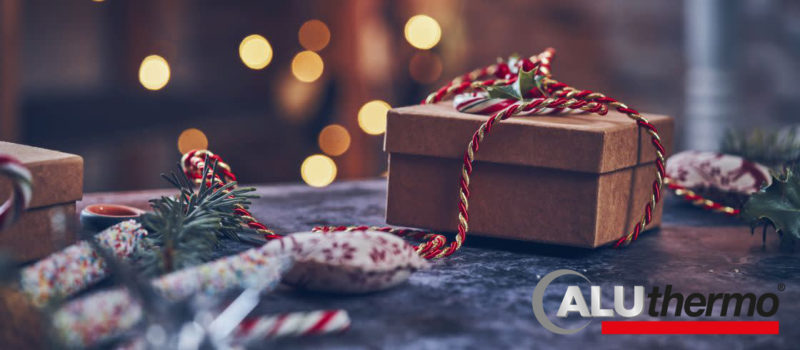 Geschenk-Weihnachten mit Logo