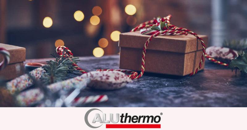Geschenk-Weihnachten mit Logo drunter