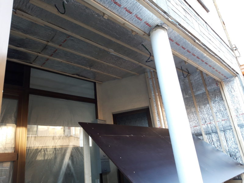 isolation mince d'un mur intérieur et extérieur