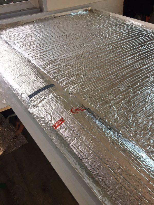 Insulation of an infrared heating (2)